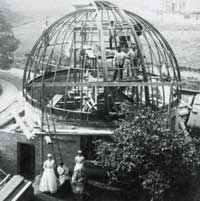 The Great Scarborough Telescope under construction in 1885.